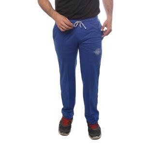 Classic Blue Colored Track Pants For Men By Duke