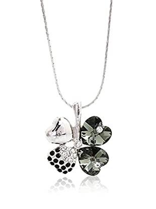Crystal from Swarovski Collar Negro / Plata