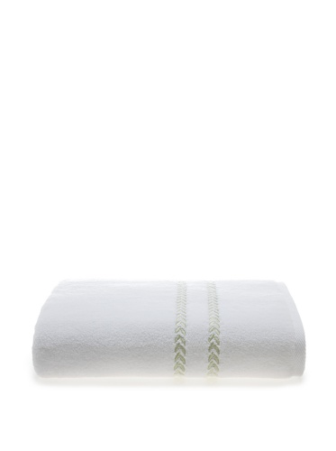 Lenox Pearl Essence Bath Towel (White/Pistachio)