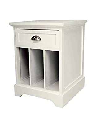 Gallerie Décor Newport Partitioned Side Table, Cream
