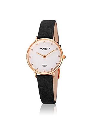 Akribos XXIV Women's AK882BKR Velvet Black Leather Watch