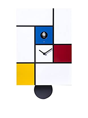 Diamantini & Domeniconi Reloj De Pared Mondrian Blanco/Multicolor
