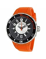 Philip Stein Extreme Orange Rubber Strap Mens Watch 34-Brg-Ro