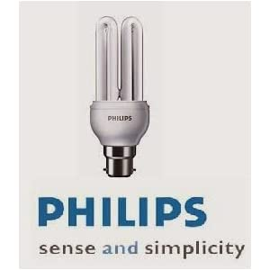 Philips Essential 18-Watt CFL Bulb (Cool White and Set of 3)