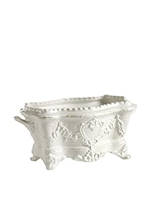 Napa Home and Garden Jardiniere with Handles, White