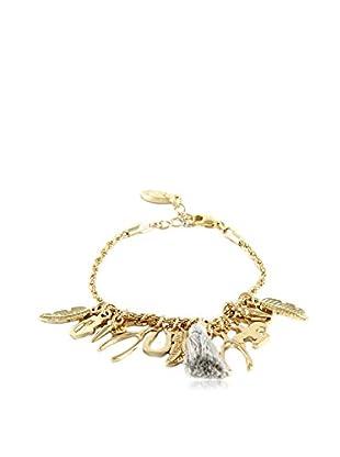 Ettika 18K Gold-Plated & Gray Charmed Life Bracelet