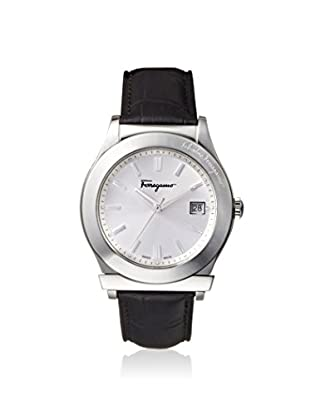 Salvatore Ferragamo Men's FF3930014 1898 Black/Silver Leather Watch