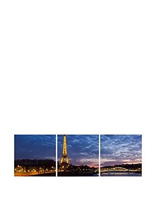 LO+DEMODA Leinwandbild 3 tlg. Set Paris Night