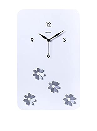 Diamantini & Domeniconi Reloj De Pared Fiori Blanco