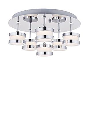 Lights&Deco  Plafón Vera Plateado Ø 40 cm