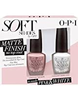 OPI Nail Polish MATTE FINISH The Nude PINK & WHITE Duo Spring 2015 Soft Shades