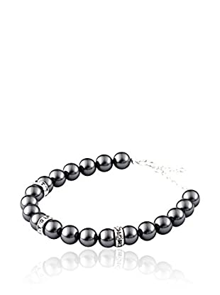 SWAROVSKI ELEMENTS Pulsera Pearls Negro