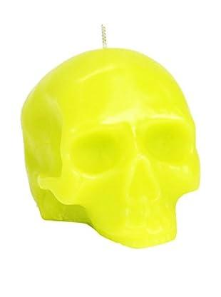 D.L. & Co. Medium Green Skull Candle