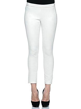Annarita N Pantalón de Vestir Skinny/Aderente (Blanco)
