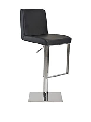 Euro Home Collection Riva Adjustable Barstool, Chrome/Black