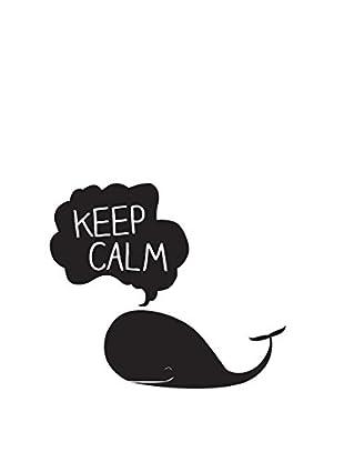 Surdic Wandtattoo Keep Calm Whale