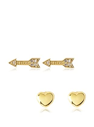 Chloe & Theodora Heart & Arrow Earring Set