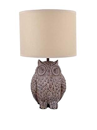 Owl Table Lamp, Brown/Cream