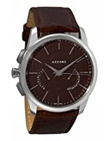 Azzaro Legend Brown Dial Chronograph Brown Leather Mens Watch Az2060.13Hh.000