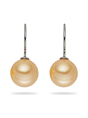 Perldor - 60650220 Pendientes de mujer de Gris de ley con perla natural Marfil