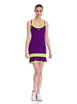 Naffta Vestido Tenis Pádel (Púrpura / Verde Claro)