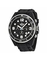 Adidas Brisbane Chronograph Black Dial Black Silicone Strap Mens Watch Adh2927