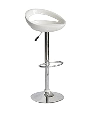 Evergreen House Set Taburete de bar 2 Uds. Blanco