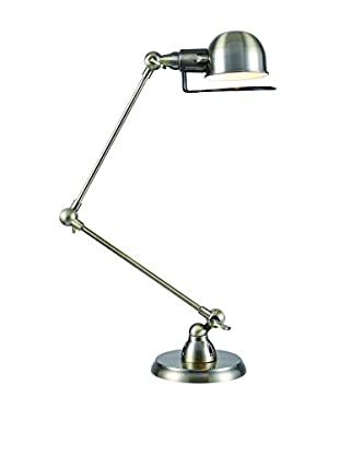 Urban Lights Industrial Table Lamp, Antique Brass