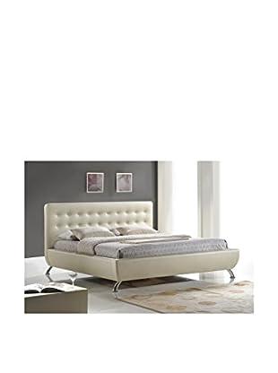 Baxton Studio Elizabeth Pearlized Bed