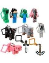 JNX Minecraft Toy Action Figure Hanger Set Kingfansion (3-Inch 10-Piece) Series 1