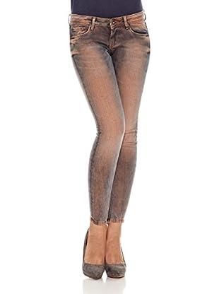 Pepe Jeans London Pantalón Cher (Naranja / Azul)