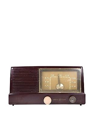 1950s Vintage General Electric AM Radio, Maroon/Tan