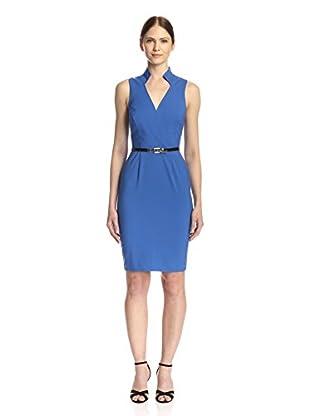 Single Women's Collar Sheath Dress