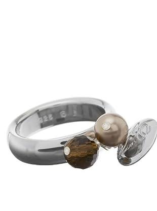 Esprit 4428803 - Anillo de mujer de plata de ley (plata / marrón)