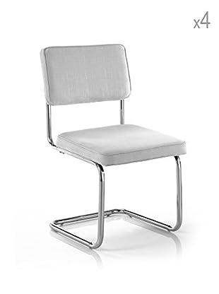 Tomasucci 4er Set Stühle Susan weiß