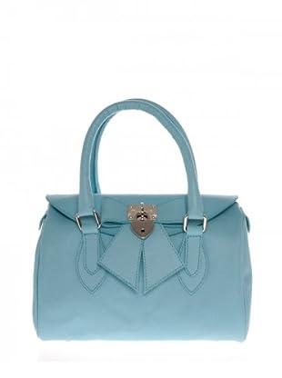 Elysa Satchel-Bag mit Schleifendetail (Hellblau)