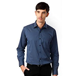 Ceremonial Slim Fit Striped Shirt