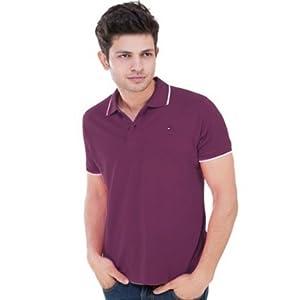 Mens Tommy Hilfiger Burgundy Casual T-shirt