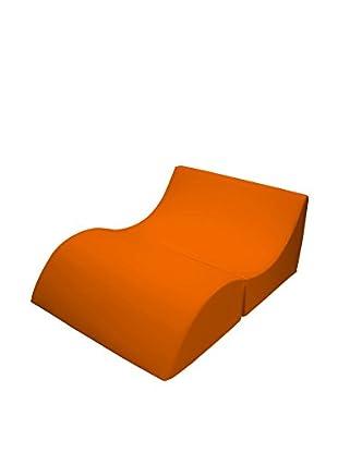 Fashion Home Chaiselongue Hocker Cleo A16 orange