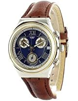 Swatch Golden Clay YCS498 Blue Round Dial Analogue Watch - For Men