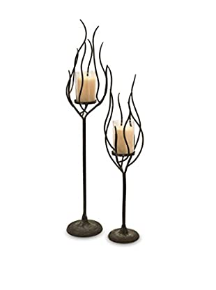 Set of 2 Anemone Candle Holders