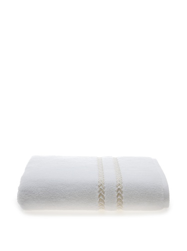 Lenox Pearl Essence Bath Towel (White/Ivory)
