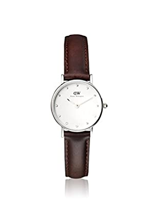 Daniel Wellington Women's 0923DW Classy Bristol Dark Brown/White Leather Watch