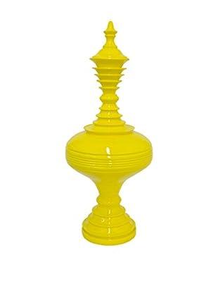 Three Hands Yellow Curvy Vase