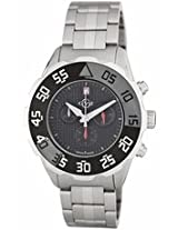Gv2 By Gevril Parachute Black Dial Chronograph Stainless Steel Mens Watch 3004B