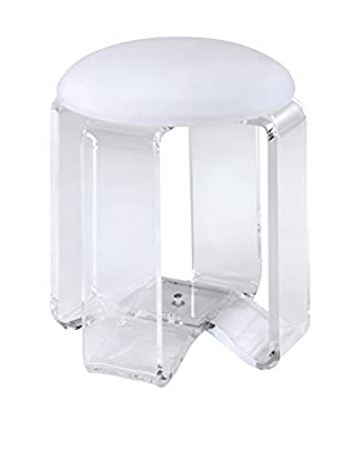 Fox Hill Trading Acrylic Vanity Chair, Clear