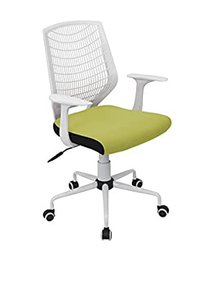 LumiSource Network Office Chair, White/Green