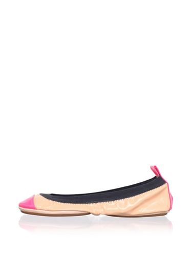 Yosi Samra Women's Colorblock Ballet Flat (Salmon/Pink)