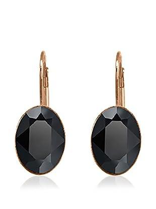 Annie Ram Pendientes Oval Crystal Negro