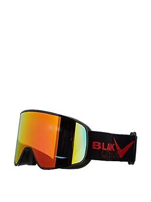 Black Crevice Skibrille Planai schwarz/rot